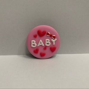 Baby Red Hearts Pink 3D Pop Socket New